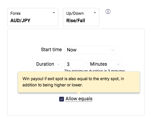 Binary.com launches 'allow equals' feature for Rise/Fall contracts